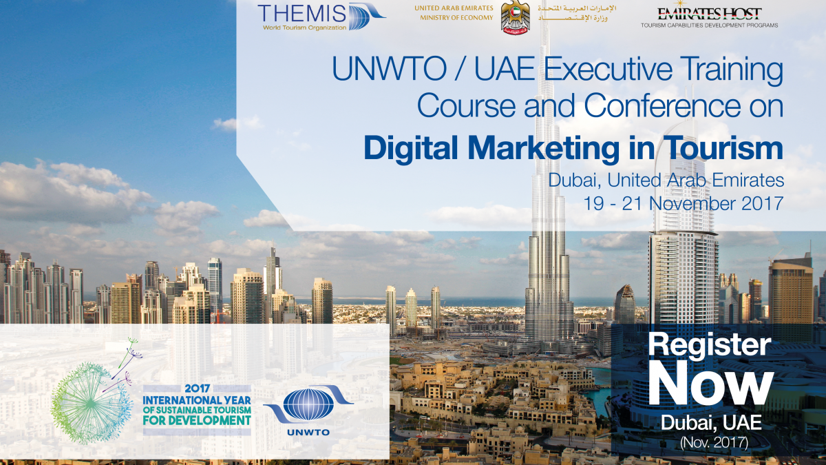 "UNWTO/UAE Tourism Leadership Programme in United Arab Emirates on ""Digital Marketing in Tourism"""