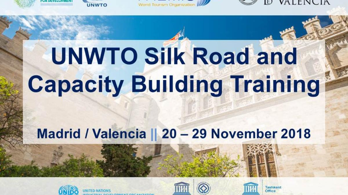 The onsite course of the UNWTO Silk Road Training and Capacity Building Programme officially commences and gathers representatives from 12 Silk Road countries in Madrid and Valencia, Spain.