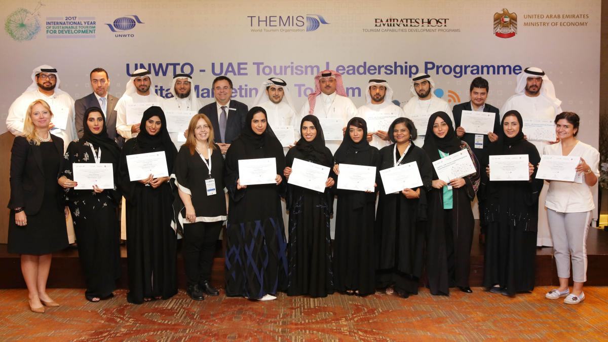 "The UNWTO/UAE Tourism Leadership Programme in United Arab Emirates on ""Digital Marketing in Tourism""  finished on 21st November"