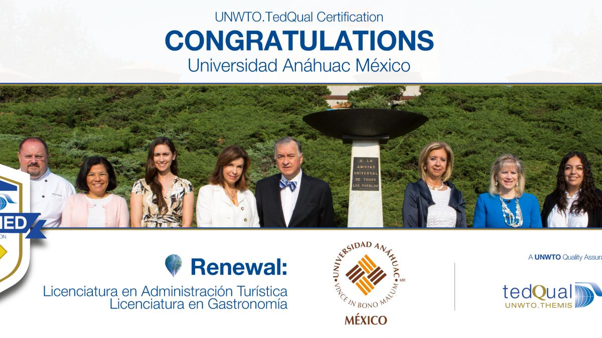 UNWTO.TedQual Certification - Universidad Anáhuac México