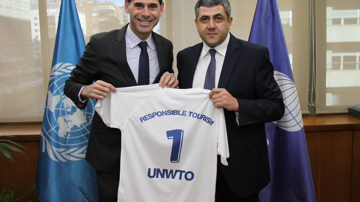 Fernando Hierro, new UNWTO Ambassador for Responsible Tourism