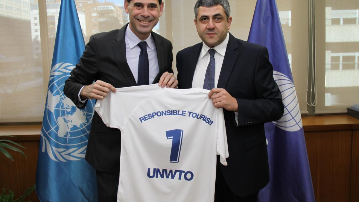 Fernando Hierro, new UNWTO Ambassador for Responsible Tourism