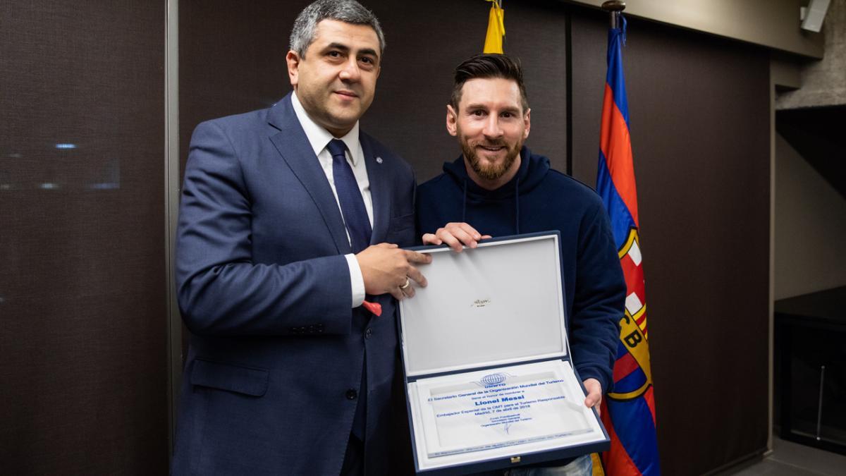 Lionel Messi est nommé Ambassadeur du tourisme responsable par l'Organisation mondiale du tourisme