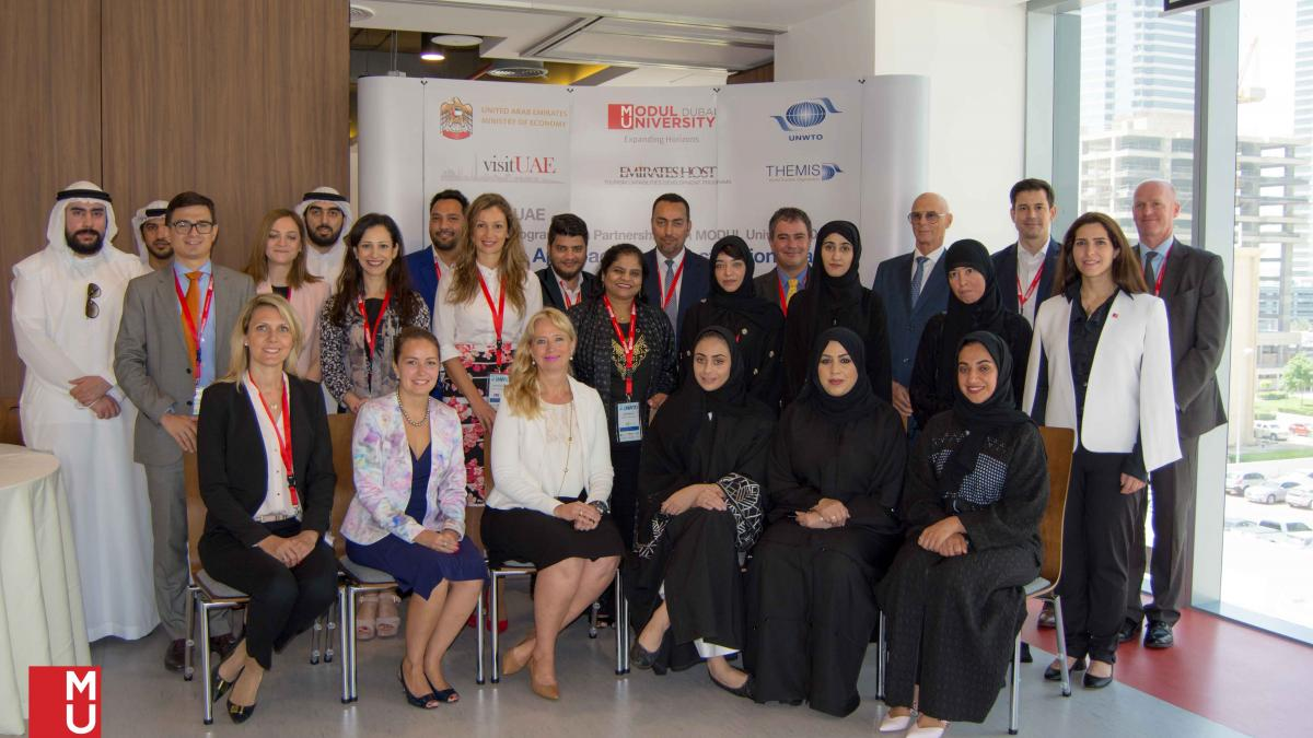 "Inaugurated the UNWTO-UAE Executive Training Workshop in United Arab Emirates on ""Innovative Approaches to Destination Branding"" in Partnership with MODUL University Dubai with the support of the Ministry of Economy of the UAE"