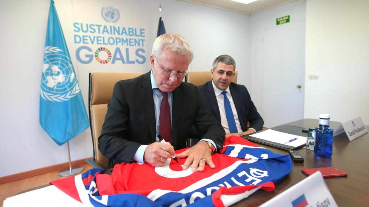 Ice Hockey Star and Diplomat Made UNWTO Ambassador for Tourism