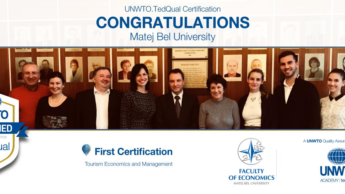 UNWTO.TedQual Certification - Matej Bel University