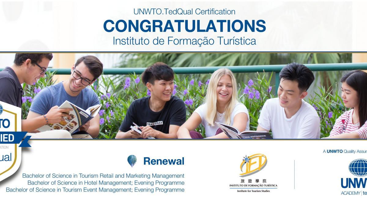 UNWTO.TedQual Certification - Instituto de Formação Turística